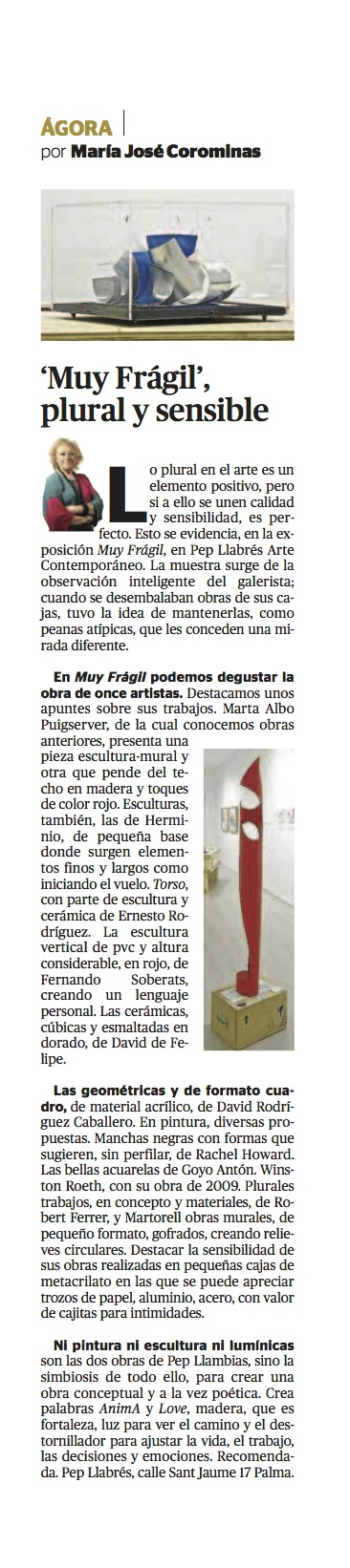 ARTICLE MARIA JOSE COROMINAS (14 FEB)